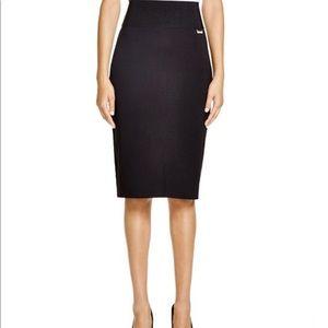 Calvin Klein microsuede pencil skirt